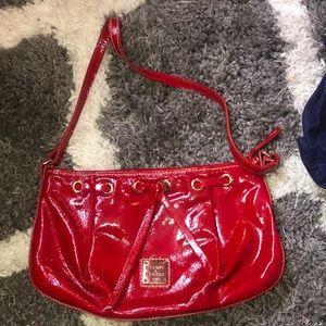 Dooney and Bourke Red Mini Shoulder Bag